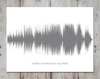 Wedding Song Lyric Art, Song Sound Wave, 1st Anniversary Gift for Husband, for Wife, First Dance, Paper Anniversary for Her, Wedding Gift