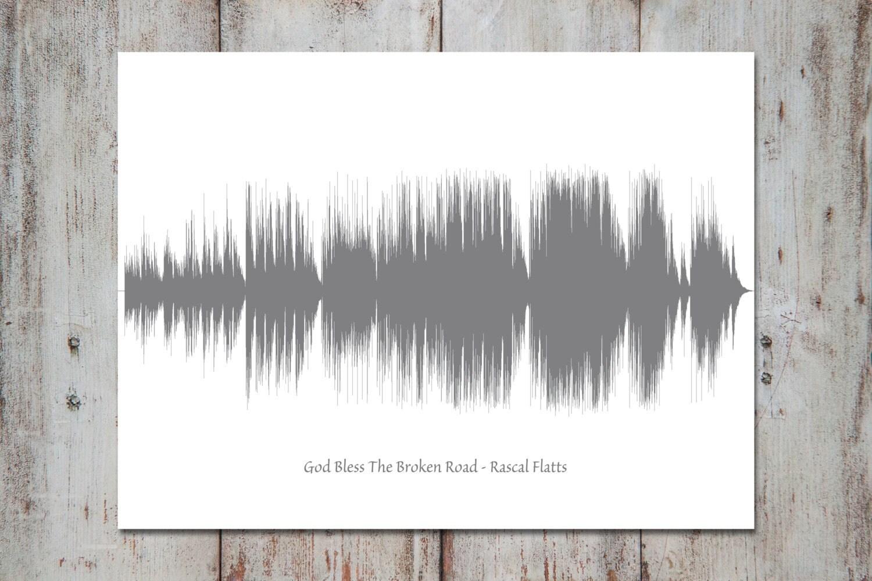 Wedding Song Lyric Art Sound Wave 1st Anniversary Gift
