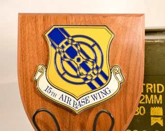 15th Air Base Wing Plaque - USAF Militaria - Air Force Collectible - USA Collectible