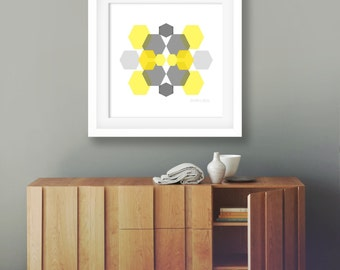 Mustard yellow decor etsy - Decorating with mustard yellow ...