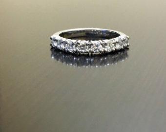 Platinum Diamond Wedding Band - Diamond Platinum Engagement Band - Platinum Band - Diamond Band - Platinum Ring - Diamond Ring - Prong Band