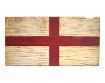 England Wood Flag, Distressed, Decorative and in a Variety of Sizes!