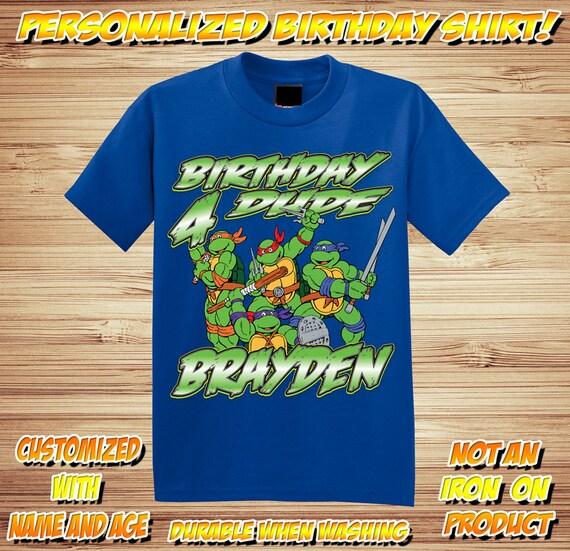 Personalized TMNT Teenage Mutant Ninja Turtles Birthday Shirt - tshirt custom
