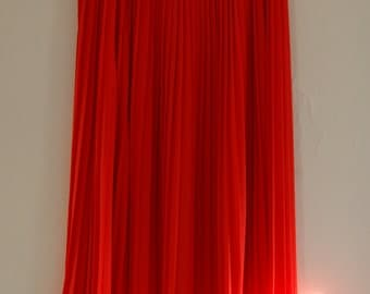 Vintage Pleated Skirt // Red skirt By Chause // Size 12