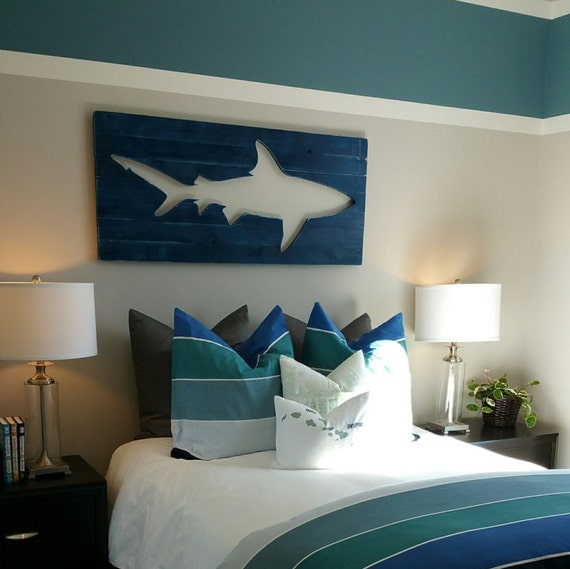 shark bedroom decor distressed shark pallet wall surf decor decor 13143