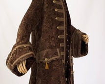 Frock Coat, Vest, Jabot - Men's Revolution, Pirate or Masquerade Coat and Waistcoat