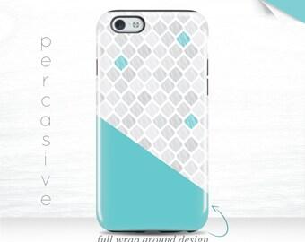 iPhone 6s Plus Case Mint iPhone 7 Geo iPhone 6 Plus Case Geometric Diamond iPhone 5s Case Teal iPhone 6 Wrap Around Case Galaxy S7 case  06x