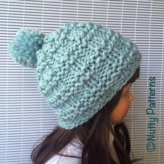 Beanie Knitting Pattern Straight Needles : Knitting Pattern * Lee Hat * Beanie * Straight needle * Instant download #503...