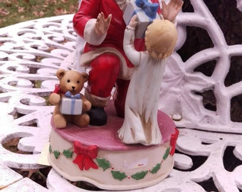 SALE Gorgeous Schmid Musical Santa Figurine