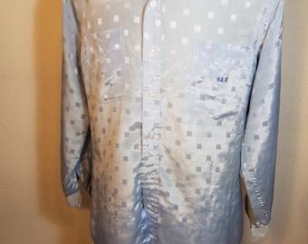 FREE  SHIPPING    Vintage 1950 Men Iridescent Shirt