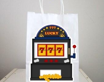 Casino Goody Bags, Slot Machine Goody Bags, Casino Favor Bags, Slot Machine Gift Bags, Slot Machine Favor Bags