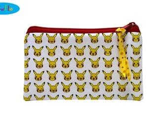 Cotton Bag | Anime Bag | Pokemon Bag | Pikachu Bag | Pouch | Money Pouch | Bag for cords