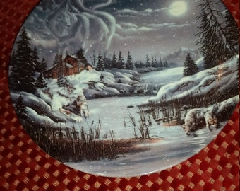 """Bradford Exchange Collectible """"A Hidden World"""" Collection Plate # 4628C"""