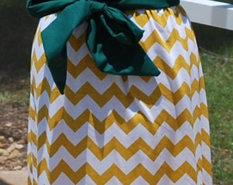 Green Bay Packers Strapless Maxi Dress, made with Upcycled Shirts with sash Ready to ship size Small
