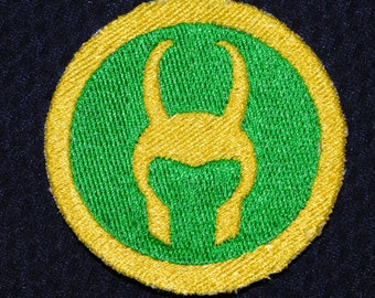 Loki's Symbol Embroidered Iron On Patch