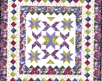 "Patch of Pansies Quilt Kit 66 1/2"" x 70 1/2"""