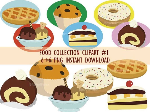 desserts and baked goods clipart food collection clipart png on rh etsystudio com baked goods clip art free pictures of baked goods clipart