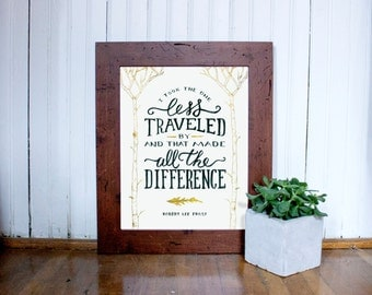 The Road Not Taken Printable Wall Art | Digital File