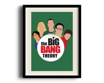 The Big Bang Theory minimalist poster, The Big Bang Theory digital art poster