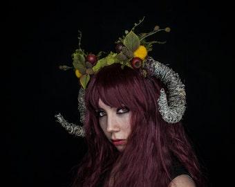 Horned Headpiece, Horned Headdress, Woodland Fairy Headpiece, Horns