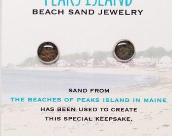 Peaks Island Beach Sand Jewelry, Peaks Island Sand Jewelry, Beach Sand Jewelry, Sand Jewelry, Summer, One of a Kind Gift, Made in Maine