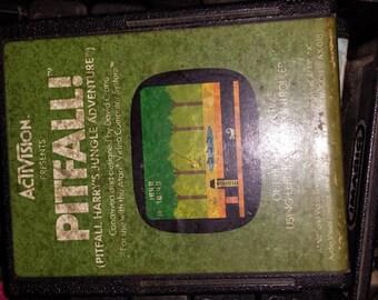 Vintage Pitfall game cartridge for ATARI
