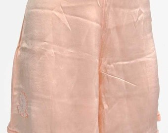 Vintage 30s Deco peach rayon French knickers • Tap pants