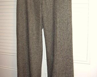 Pants 12,   Harold's Elegant Herringbone Career Pants. Neat Back Pockets, Belt Loops Size 12