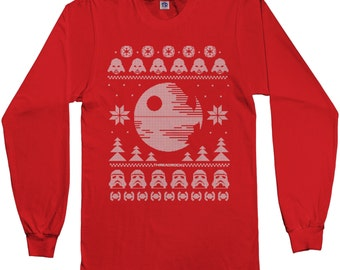 Star Wars Dark Side of the Force Ugly Christmas Sweater Men's Long Sleeve T-shirt