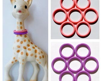 """Sophie the Giraffe """"SOPHIEsticated"""" rings - mix & match - set of 2 /FREE US SHIPPING/"""