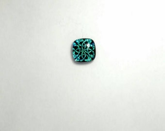 Celtic knot tie tack Blue/green Celtic Knot tie pin- Fused Glass Tie Tack - Irish Dichroic Tie Tack - Celtic Mens Jewelry