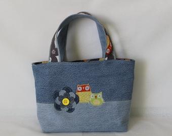 Owl Denim Scripture Tote/Handbag LDS