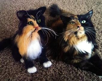 Custom Pet Replicas - Pet Portraits - Felted - Small Size