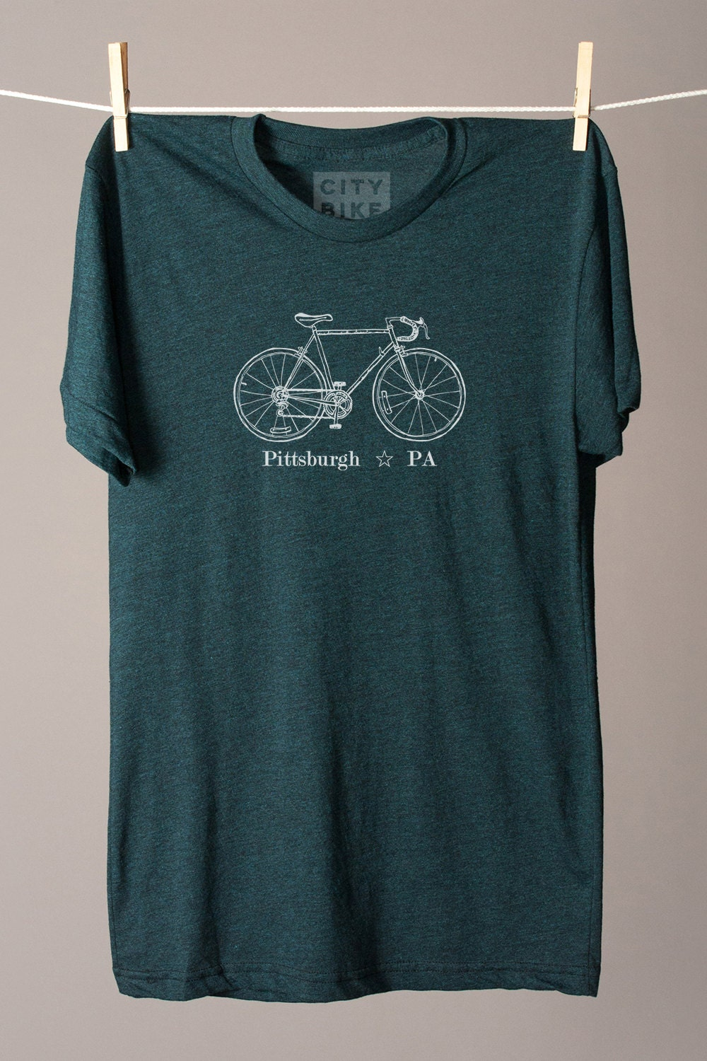 Pittsburgh Bike Tee Pittsburgh T Shirt Pittsburgh Tee