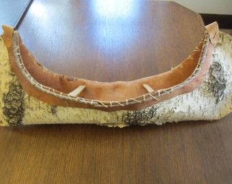 Hand Crafted Vintage Birch Bark Canoe - Cabin Decor - Rustic Decor - Man Cave - Cottage Decor - Boat  - Canoe -