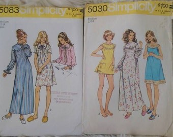 Vintage Sewing Pattern Set of 2 Simplicity 5083 5030