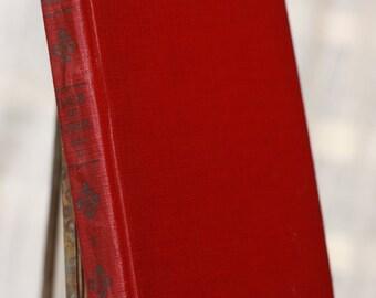 Repurposed Vintage Hardback Red Pocket Size Journal