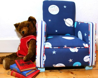 Children Kids Nursery Armchair based on 1930's original club chair