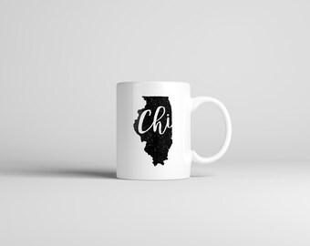 Chicago Mug // Illinois Mug // Hometown Mug // Gift For Her // Gift For Him // The Busy Bee