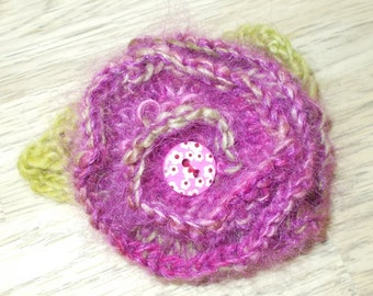 Pink Corsage  Brooch