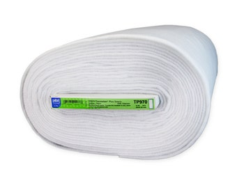 Thermolam Plus by Pellon; Sew in; Half Yard or By-The-Yard; White; Quilt Batting; MPN TP970