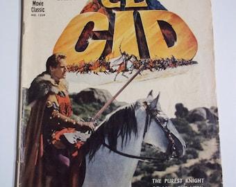 Dell Movie Classic Comics # 1259 El Cid 1961 Vintage Comic Book Tie-In VG-