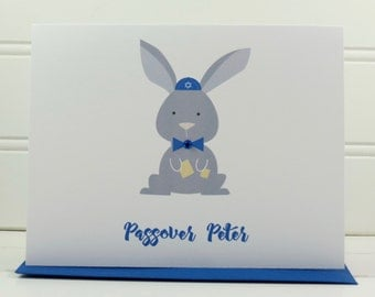 Interfaith Card, Passover Easter Card, Easter Passover Card, Passover Card, Easter Card, Peter Rabbit, Card for Niece, Nephew, Son, Daughter