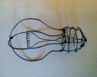 Light Bulb-- 3-D steel wire sculpture