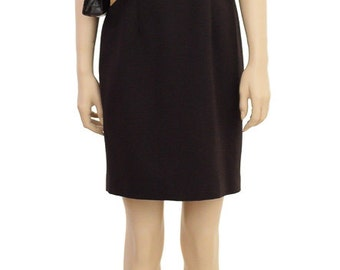 Vintage Dress, Laura Madrigano Brown Dress, Women's Dress, Sheath Dress, Cotton Dress, Knee Length Dress, Women's Clothing, Business Dress