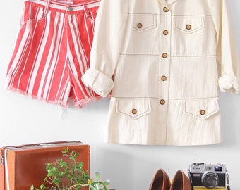 S A L E ⎮ 80's Vintage Pin-Striped Shorts