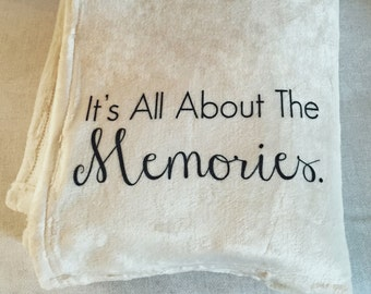 Personalized Custom Throw Blanket for a loved one - it's all about the memories!  Includes their name too!