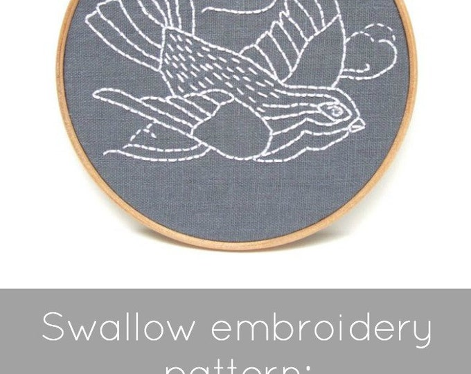 Bird Embroidery Pattern - Digital Download