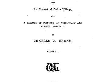 Salem Witchcraft books (Facsimile edition)