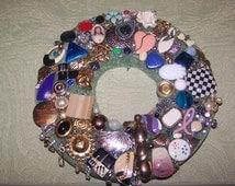 Nine-inch bling single pierced earring jewelry wreath centerpiece